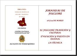 PROGRAMA DE LAS I JORNADAS DE FOLCLORE TRADICIONAL DE LA REGIÓN DE MURCIA-1