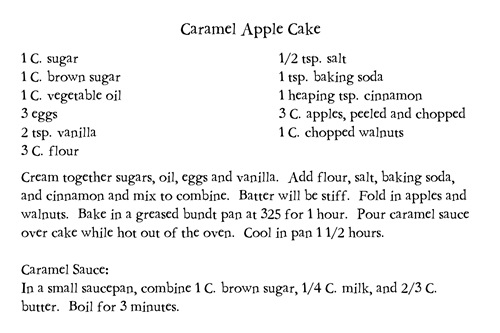 Caramel apple cake2