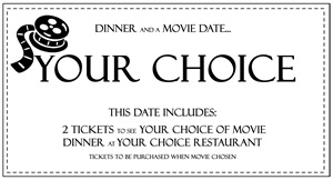 dinner and a movie your choice