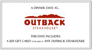 dinner at outback