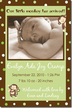 Eva's Birth Announcement