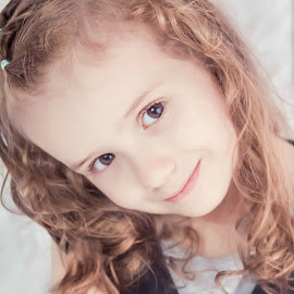 Cute by Jenny Hammer - Babies & Children Child Portraits ( child, brown eyes, girl, cute, portrait )