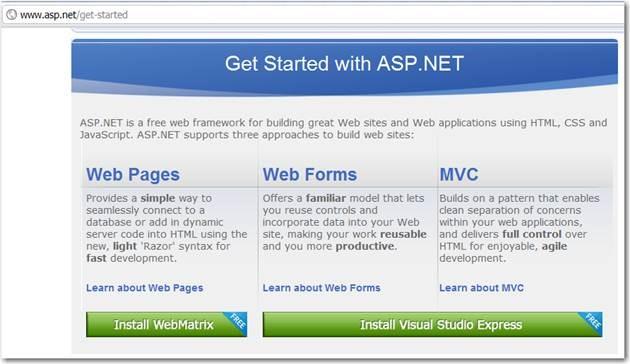 ASP.NET getstartet portal