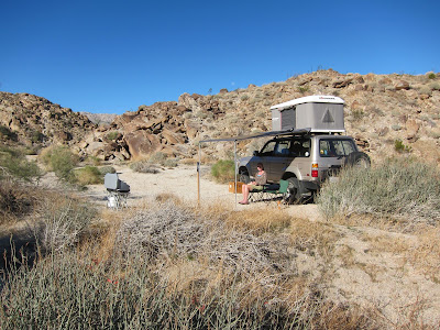 Our Landcruiser in RockHouse Canyon - Carrizo Gorge with Maggiolina Rooftop TentBorrego