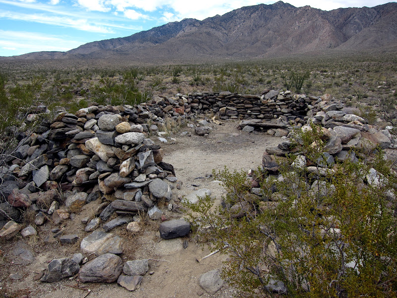 Stone Shelters in Rockhouse Valley - Anza Borrego