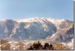 Monti dell'Oasi con la neve