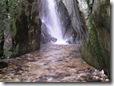 Il torrente sotto la cascata
