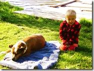 06 Missezula lake Buster camping boy