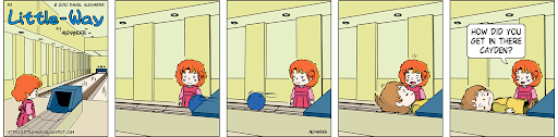 Little-Way-Webcomic-#00003: Bowling Over The Line The Aftermath