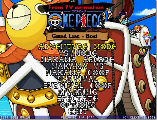 One Piece Mugen free FAN game Img (2)