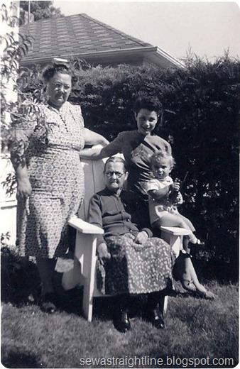 grandma couch, grandma McGary, Grandma Helen Jewett, Gary apx 1943