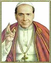 Berlusconi papa in un santino a colori