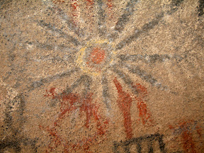 Close-up of Sun Pictograph