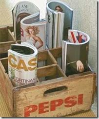 engradado -porta revistas caixa pepsi