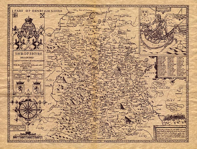 Old Map of Shropshire