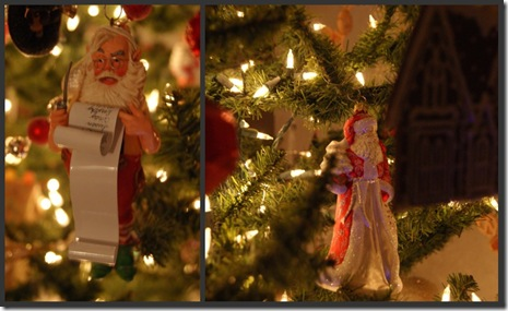 Santa orniments 1 collage