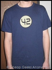 Front of 42 J!NX Tee