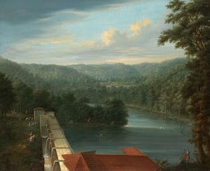 RIJKS: Johann Christian Vollerdt, Jean Baptiste Vanmour: The Water Reservoirs, the so-called Bends, in Belgrade Forest 1763