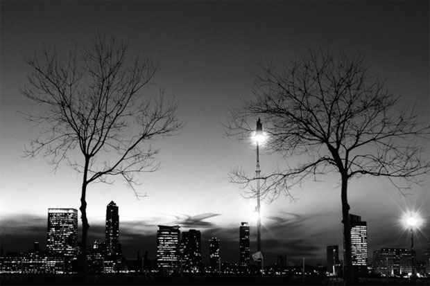 Across-the-Hudson-Night-black-and-white