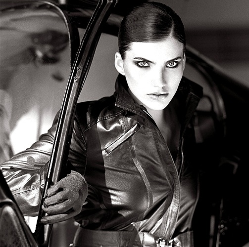 Female-model in black-and-white
