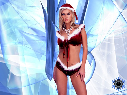 sexy-girl-Christmas-desktop-wallpapers