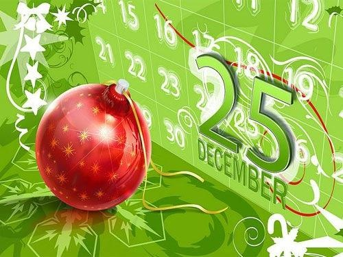 25 December: on Christmas 