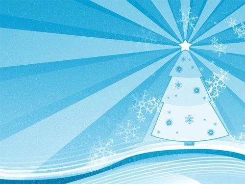 Blue Cozy Christmas Wallpaper