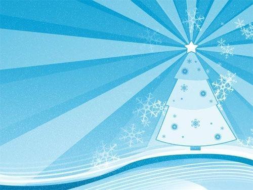 Blue Cozy Christmas Wallpaper