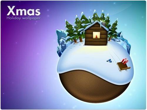 Globe Polar Christmas Wallpaper