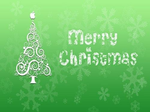Green Illustrated Christmas Desktop Wallpaper 