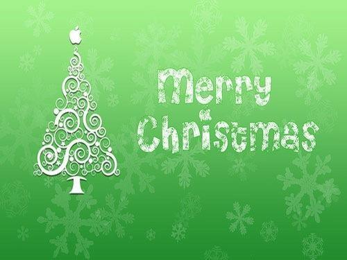 Green Illustrated Christmas Desktop Wallpaper