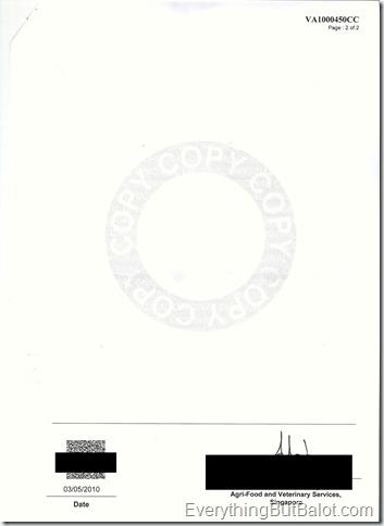ava veterinary certificate 2010-002