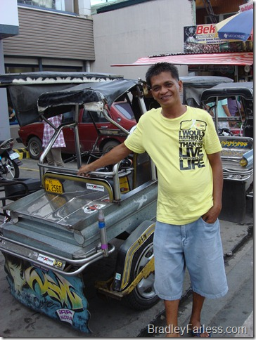 Filipino tricycle driver.