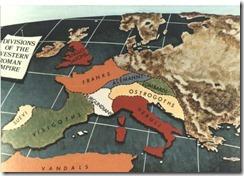 térkép - Ny-Római birodalom