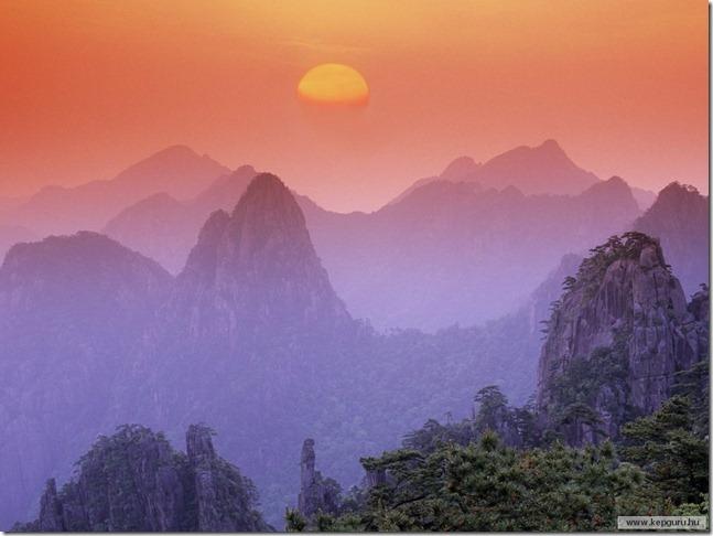 Huangshan-hegység-Kína