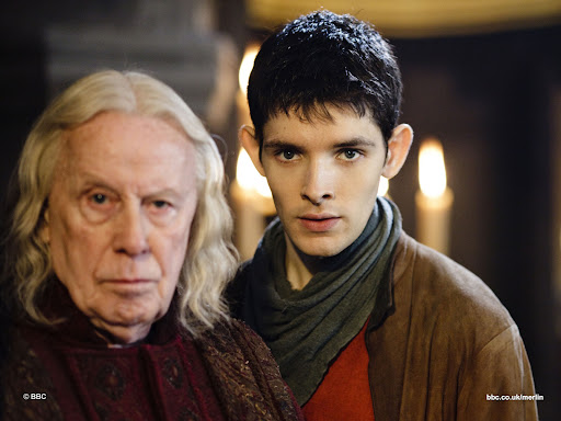 Richard Wilson is Gaius and Colin Morgan is Merlin