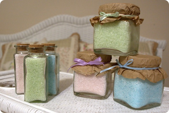 Bath Salts in 3 different scents. Being sold at the gift bazaar: http://www.facebook.com/event.php?eid=157153067648020