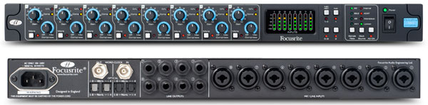 Focusrite Octopre MkII Dynamic analóg/ADAT előfok/kompresszor/konverter