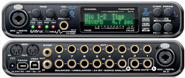 MOTU UltraLite-mk3 Hybrid USB2+Firewire 400 audio interfész