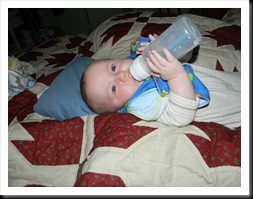 Dean: Caught holding his own bottle