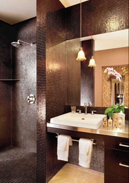 redbury LA Hollywood hotel interior design decor black tile