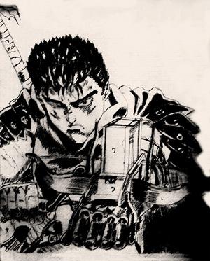 Fan Art de Gatsu (Berserk) por Andreu H.C.