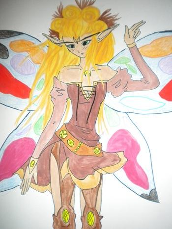 Hada Guerrera, dibujo de Yolanda P.