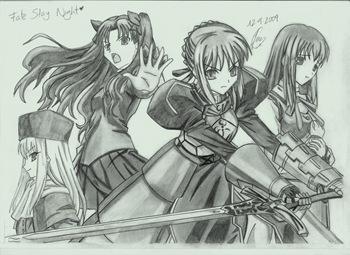 Fan Art de Fate/stay night por Jenni