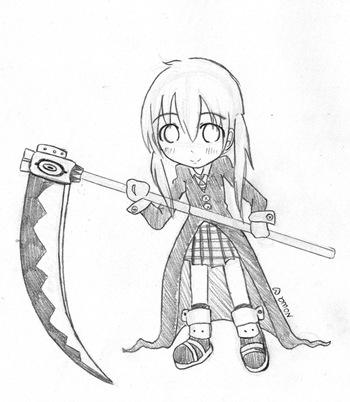 Maka, Fan Art de Soul Eater, por Nowa