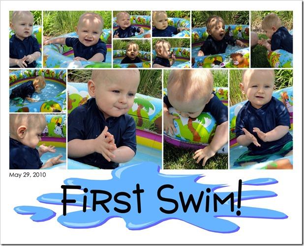 First Swim! - 05.29.10
