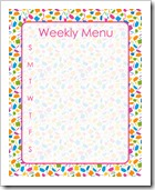 Weekly Menu - PINK - Sprik Space