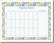 Weekly Menu (Binder Edition) - BLUE - Sprik Space