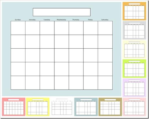 free printable perpetual blank calendar