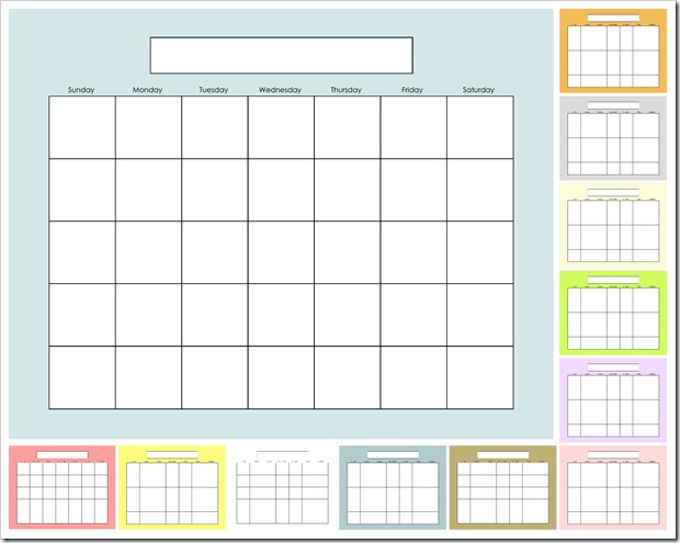 IMAGE - Blank Calendar - SOLIDS